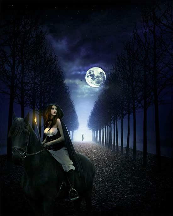 Create a Queen in the Dark Night Photo Manipulation