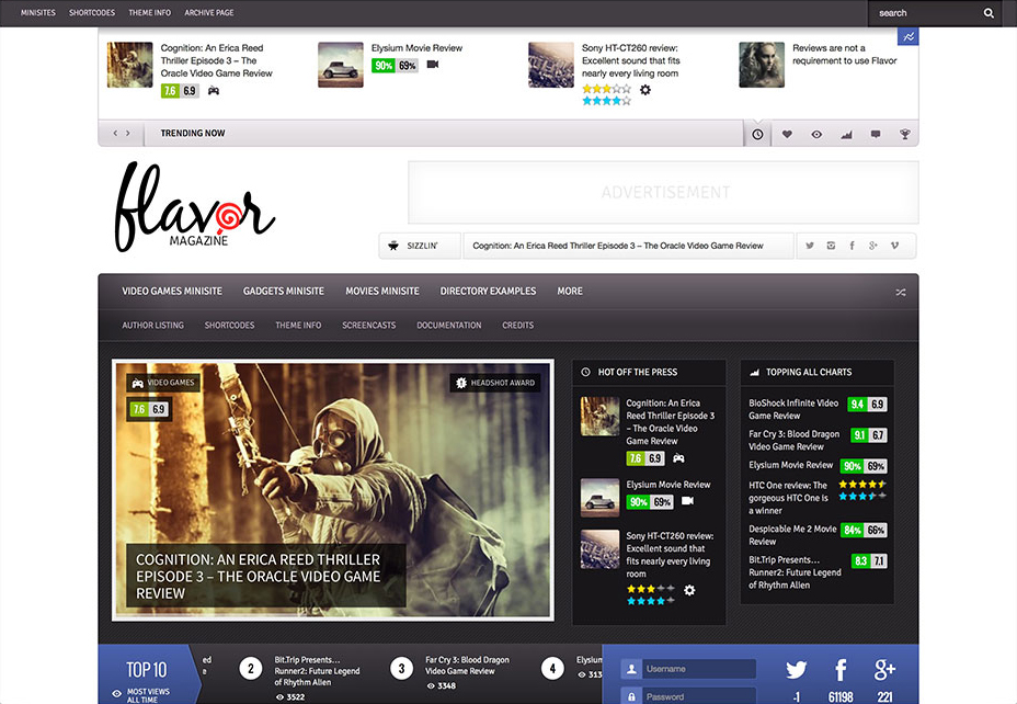Flavor - WordPress Review Themes