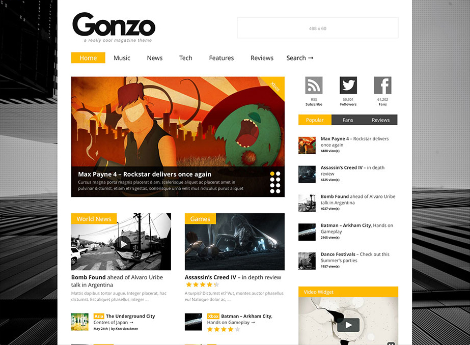Gonzo - WordPress Review Themes