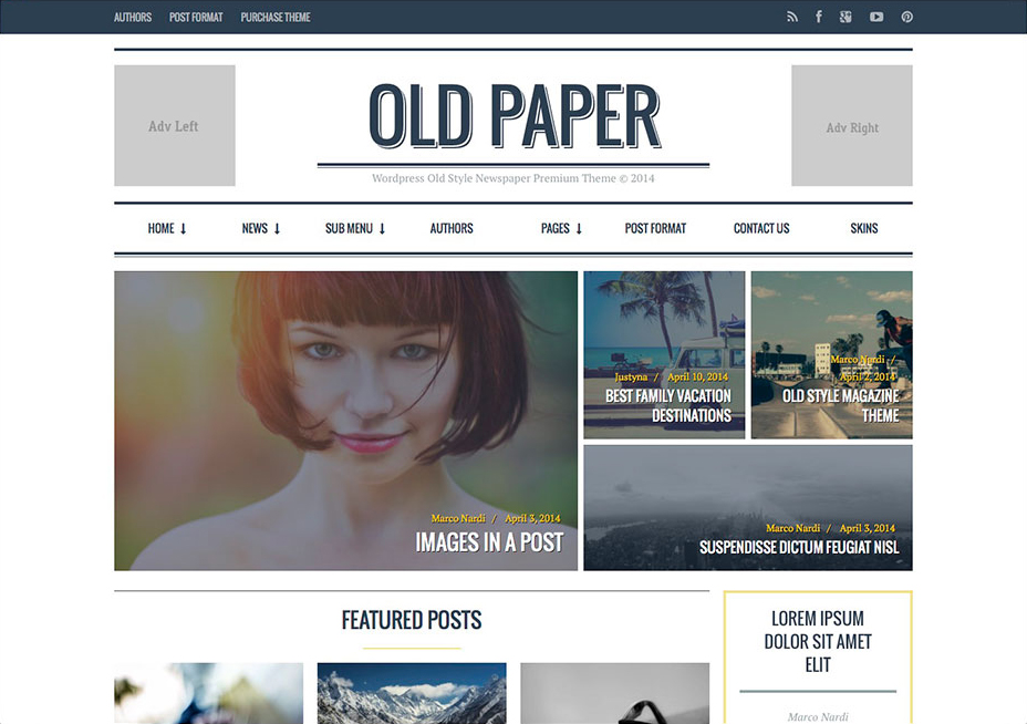 oldpaper-magazine-review-theme
