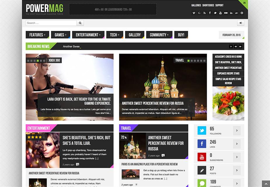 Powermag Gaming WordPress Review Themes