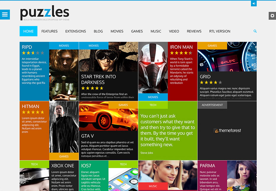 Puzzles - WordPress Review Themes
