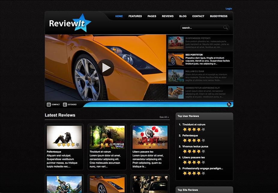 ReviewIt WordPress Review Theme