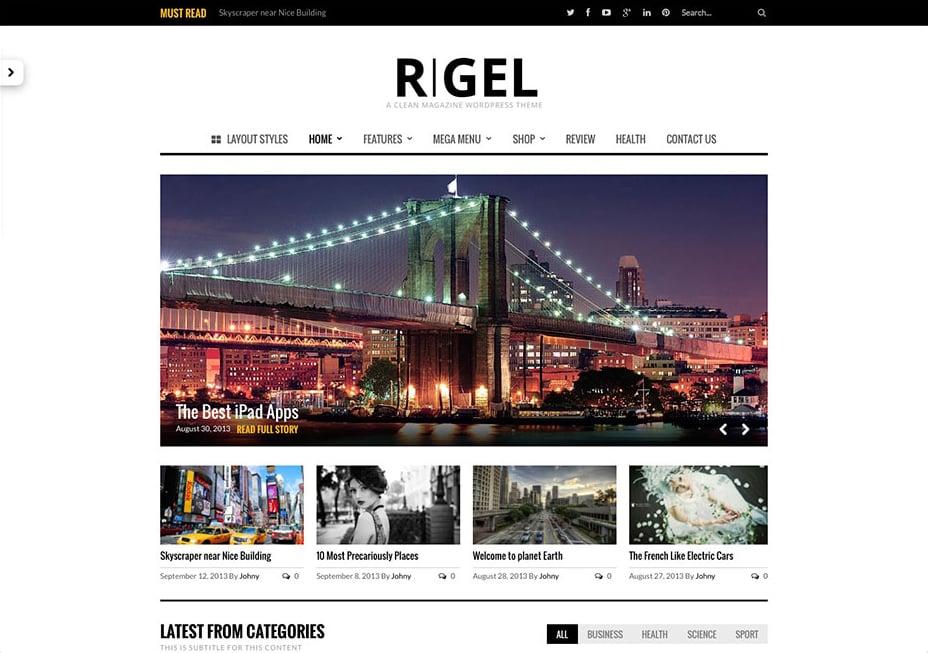 Riegel WordPress Magazine Theme