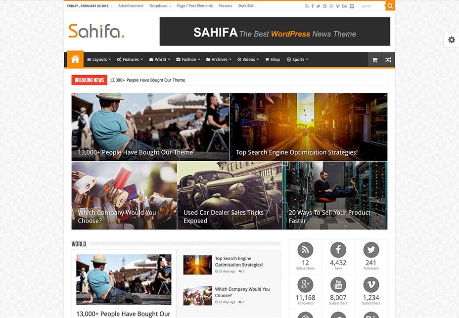 Sahifa - WordPress Review Themes