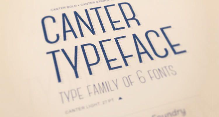 headline crisp fonts free Canter