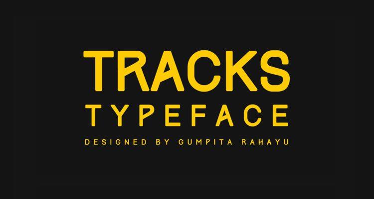headline font free Tracks Type