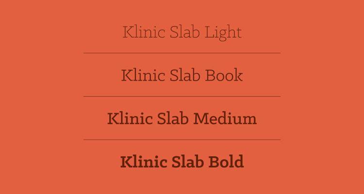 headline font free Klinic Slab