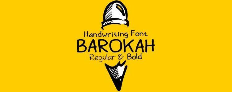 Barokahfont designed by Seruput Studio free font
