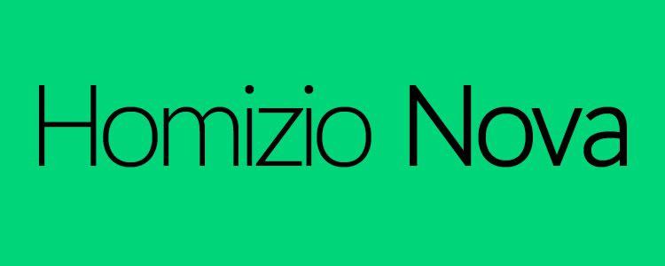 Homizio Novafont designed by Álvaro Thomáz free font
