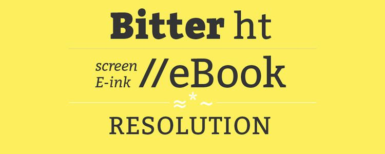 Bitterfont designed by Huerta Tipografica free font