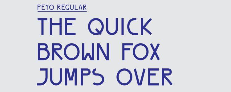 Peyo Regularfont designed by Shannon Lim free typeface