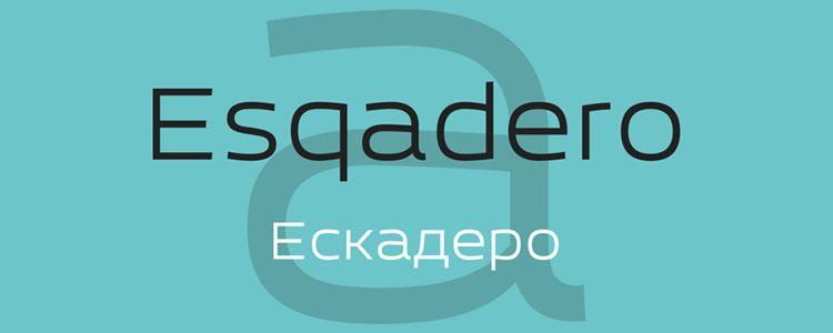 Esqadero FF CYfont designed by Sergiy Tkachenko free font