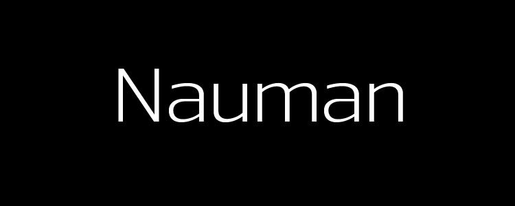 Nauman Regularfont designed by The Northern Block free font