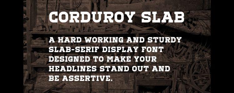 Corduroy Slab OT free typeface