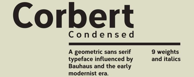 Corbert Condensed Regular & Italic +Web Font free font