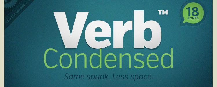 Verb Condensed Regular & Italic +Web Font free typeface