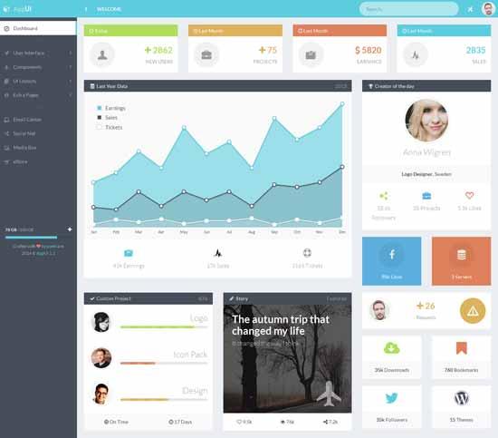 AppUI - Web App Bootstrap Admin Web Template