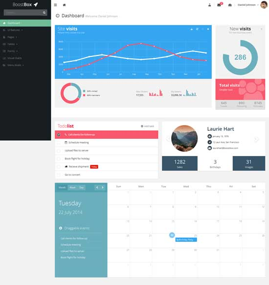 Boostbox - Bootstrap Responsive Admin Dashboard Template
