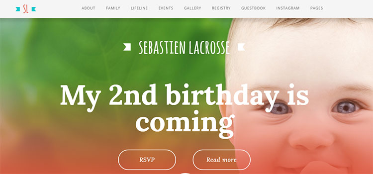 Baby Diary – One Page Responsive Theme