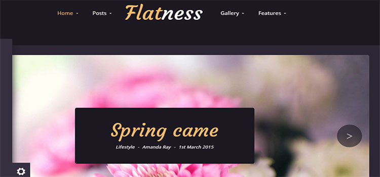 Flatness – Personal HTML Blog Template