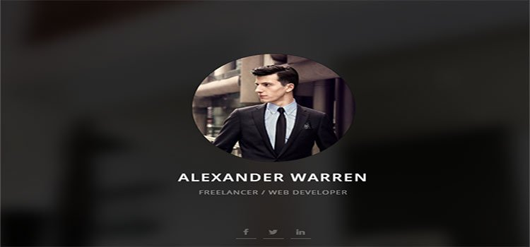 Gentleman – Personal vCard Template (Personal HTML Templates)