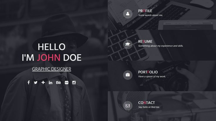 INSTA - One Page Responsive Resume Template