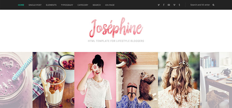 Josephine – HTML Template For Lifestyle Bloggers