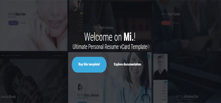 Mi. – Ultimate Personal Resume vCard Template (Personal HTML Templates)