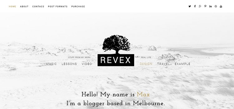 REVEX – Personal Blog HTML Template