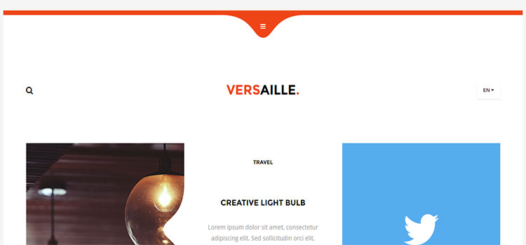 Versaille – Personal Blog HTML5 Template