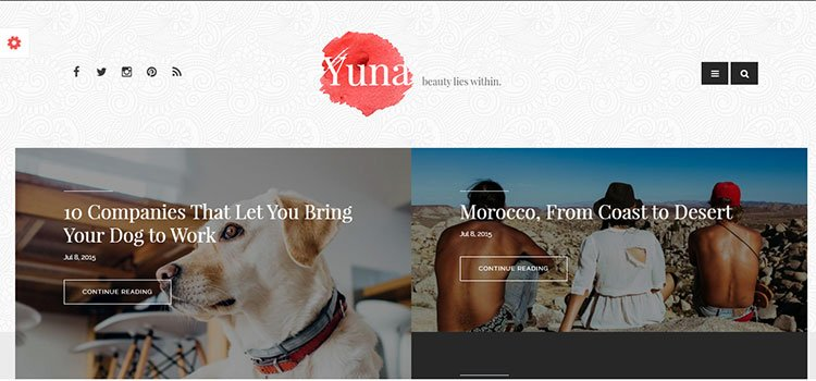 Yuna – Personal Blog HTML5 Template