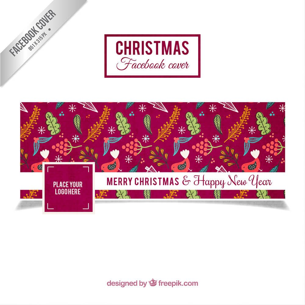 Floral Christmas Facebook Cover