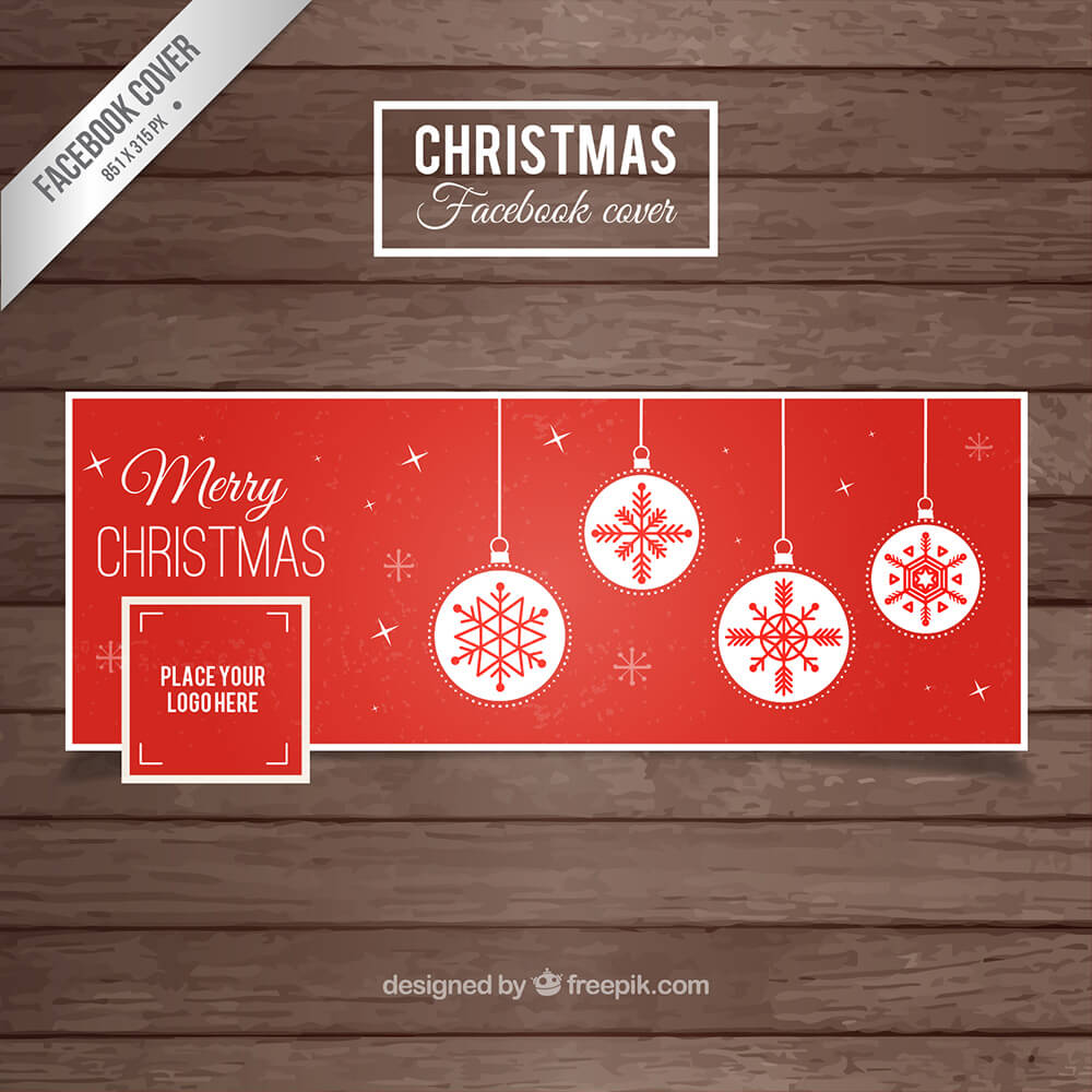Red Christmas Facebook Cover