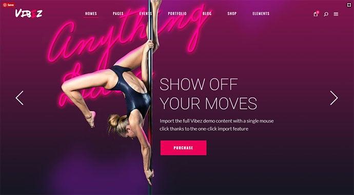 Vibez - A Dynamic Multi-concept Theme for Dance Studios and Instructors
