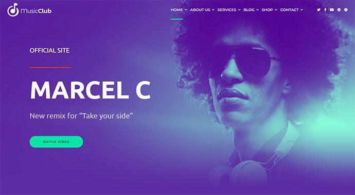 Music Club - Music, Band, Studio & DJ