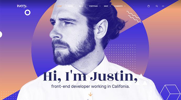 Ivery - Creative Portfolio & CV WordPress Theme