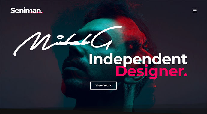 Seniman   Modern Portfolio WordPress Theme