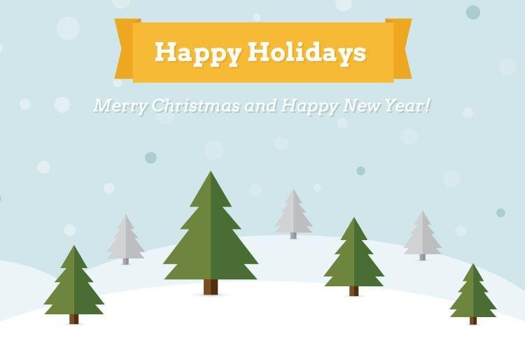 Happy Holidays Free Vector Illustration free holidays