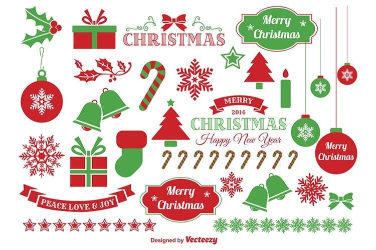 Jingle Bells Christmas Vector Elements free holidays