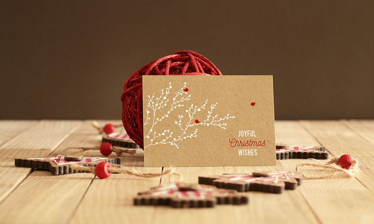 Real Photo Invitation or Greeting Card Mockup free holidays