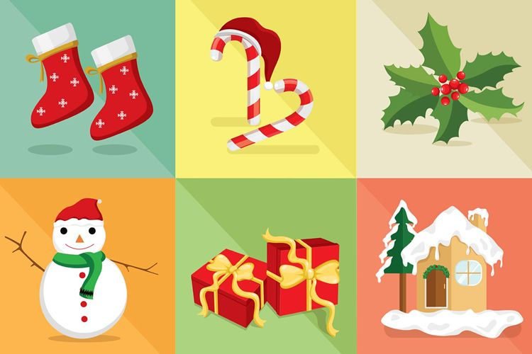 Christmas Vector Icon Set free holidays