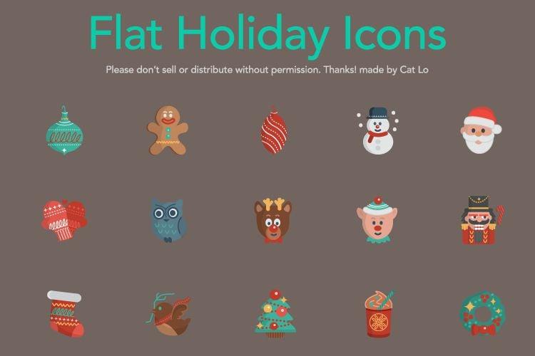 16 Vector Christmas Icons free holidays
