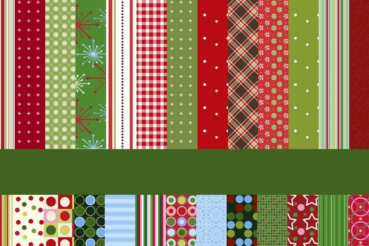 26 Vintage-Retro Xmas Patterns free holidays