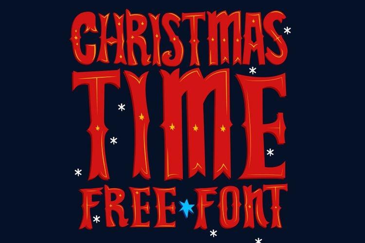 Christmas Time Free Font free holidays