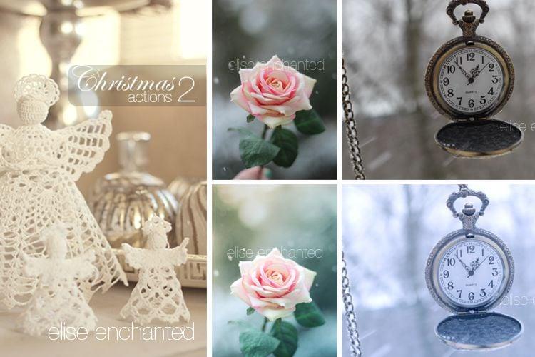 3 Christmas Photoshop Actions free holidays