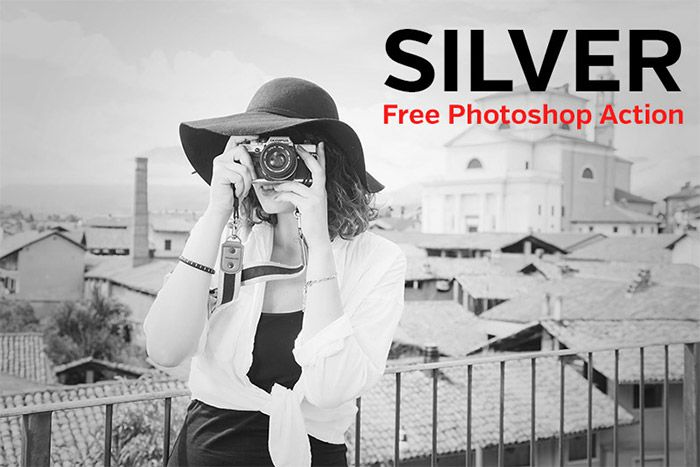 Free Silver Photoshop Action