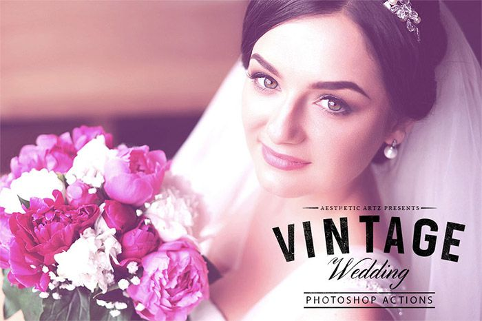 Vintage Wedding Photoshop Action