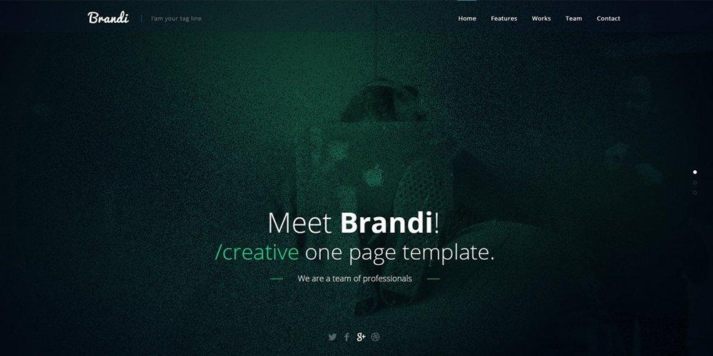 Brandi Creative One Page Multi-Purpose PSD Template