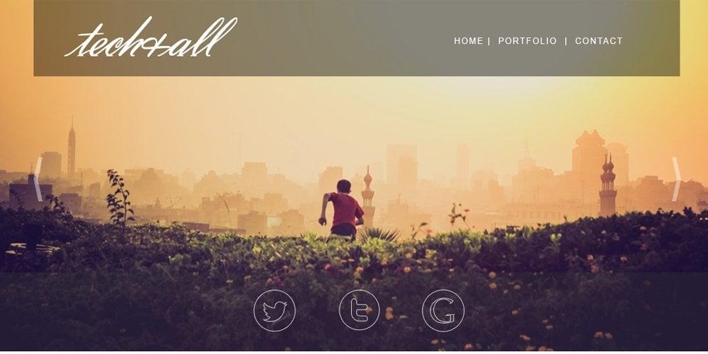 One Page Portfolio Template PSD
